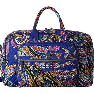 New Vera Bradley Iconic Compact Weekender paisley